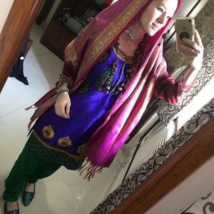 India Silk Sari Suit Top Tunic